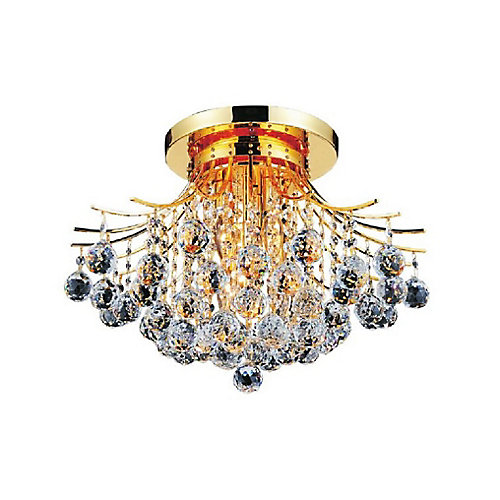 Princess 19 inch 6 Light Flush Mount with Gold Finish