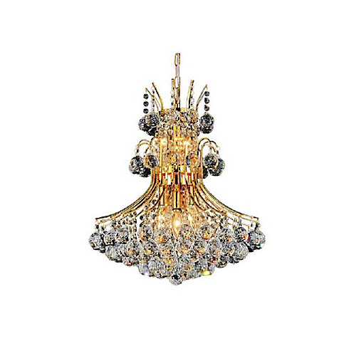 Princess 20 inch 8 Light Chandelier with Gold Finish