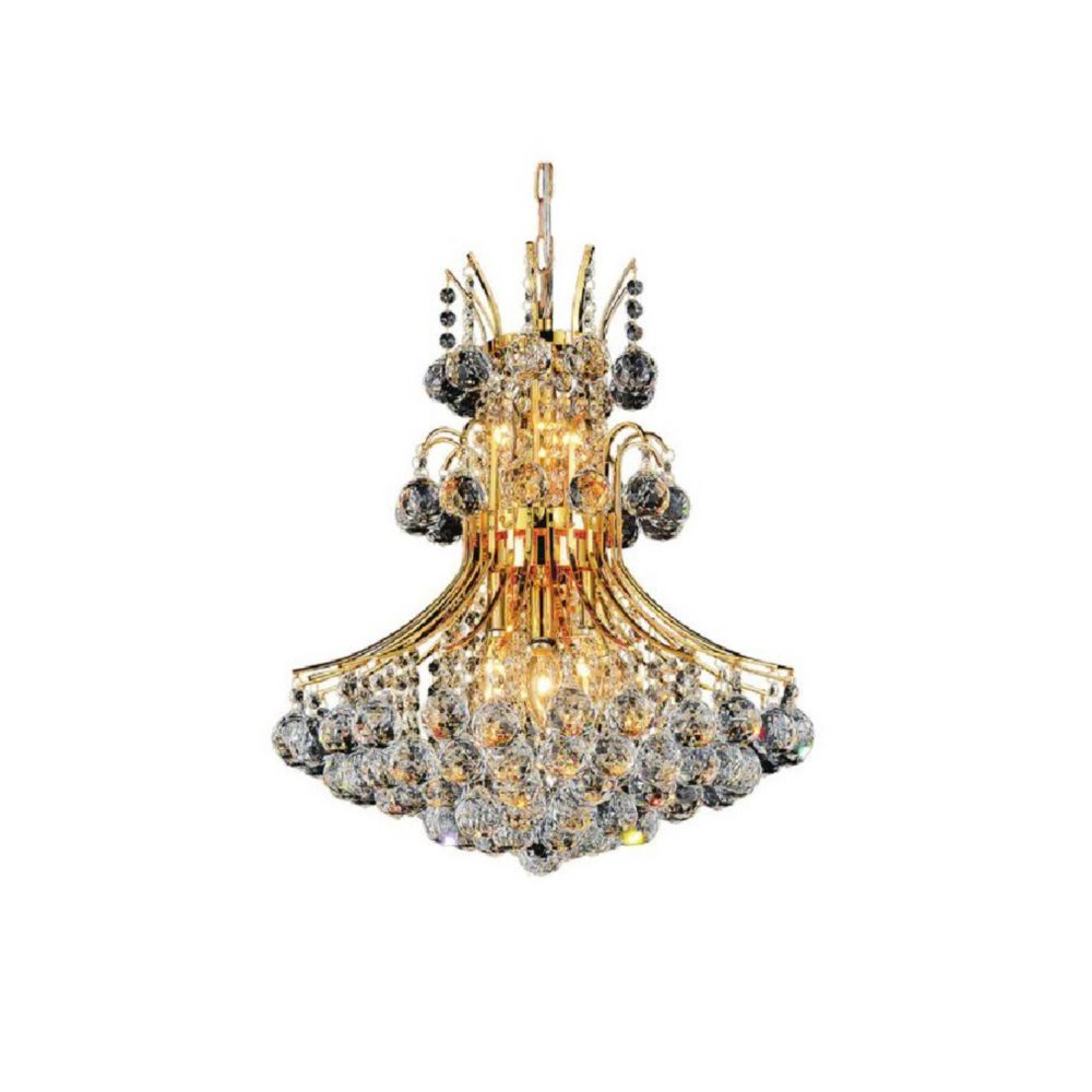 CWI Lighting Princess 20 inch 8 Light Chandelier with Gold Finish