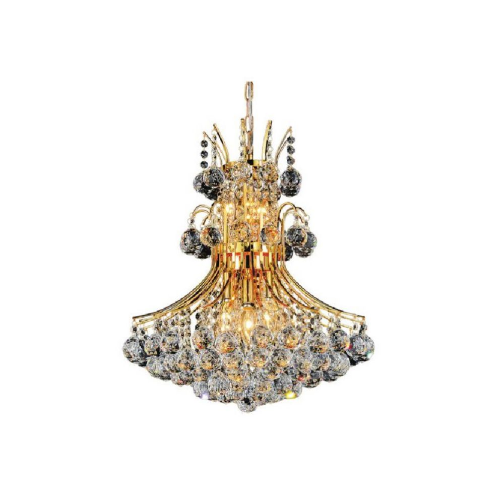 CWI Lighting Princess 24 inch 10 Light Chandelier with Gold Finish