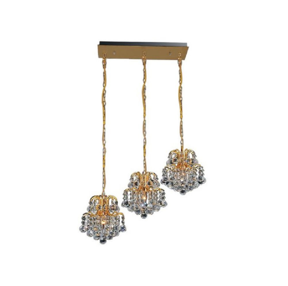 Blossom 20 inch 3 Light Chandelier with Gold Finish