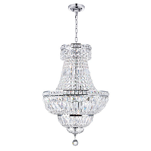 Stefania 18 inch 8 Light Chandelier with Chrome Finish