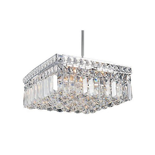 Colosseum 12 inch 4 Light Chandelier with Chrome Finish
