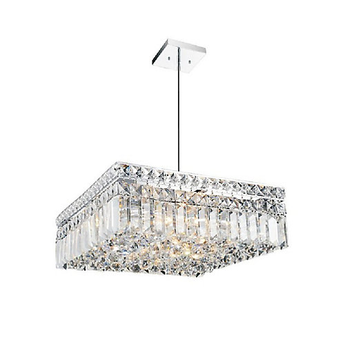 Colosseum 14 inch 6 Light Chandelier with Chrome Finish