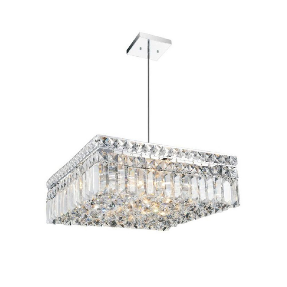 CWI Lighting Colosseum 14 inch 6 Light Chandelier with Chrome Finish