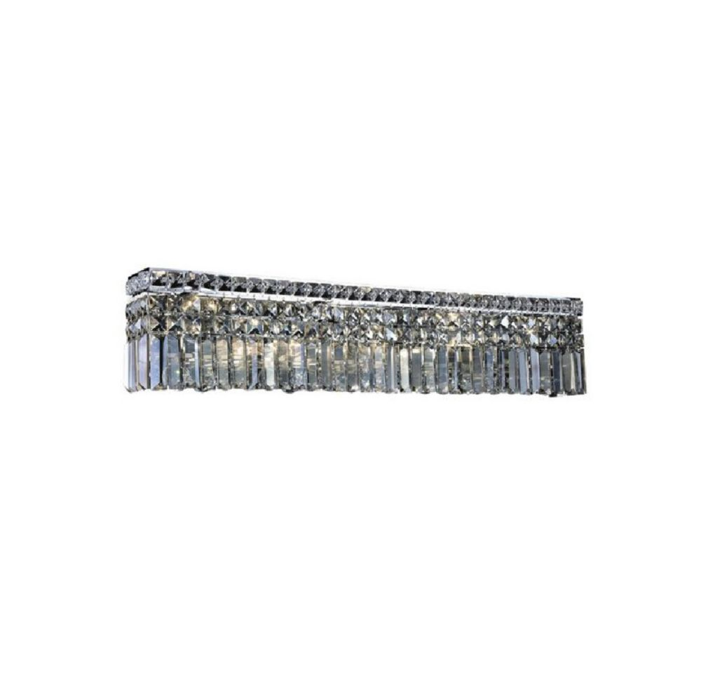 CWI Lighting Colosseum 5 inch 7 Light Wall Sconce with Chrome Finish