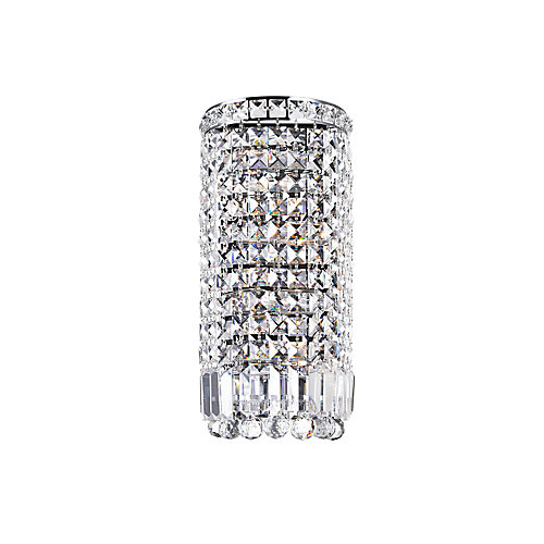 Colosseum 5 inch 4 Light Wall Sconce with Chrome Finish