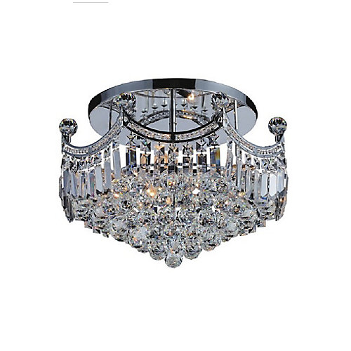 Amanda 20 inch 6 Light Flush Mount with Chrome Finish
