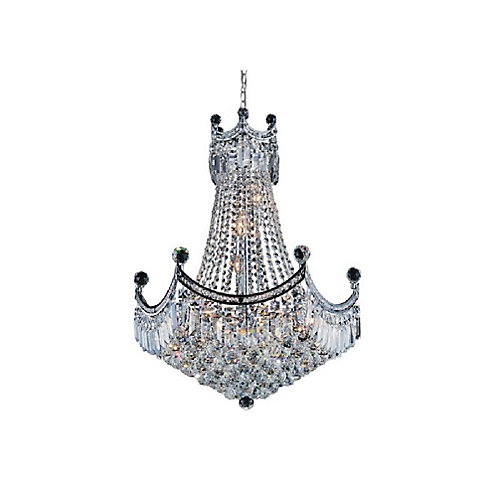 Amanda 24 inch 11 Light Chandelier with Chrome Finish