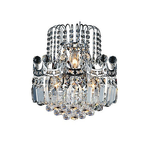 Amanda 12 inch 3 Light Wall Sconce with Chrome Finish
