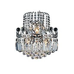 CWI Lighting Amanda 12 inch 3 Light Wall Sconce with Chrome Finish