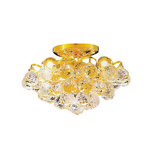 Glimmer 12 inch 3 Light Flush Mount with Gold Finish