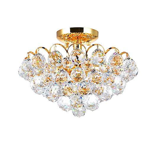 Glimmer 14 inch 4 Light Flush Mount with Gold Finish