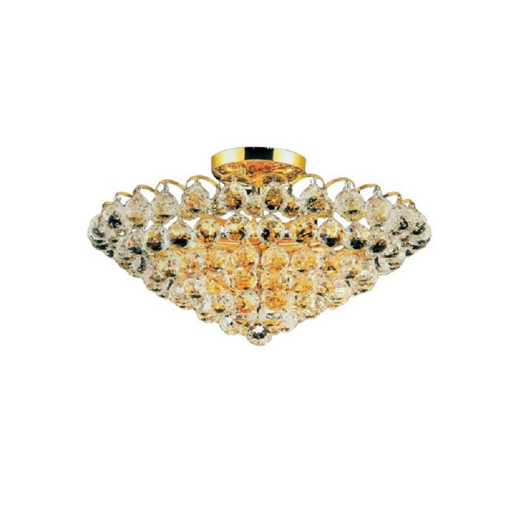Glimmer 22 inch 8 Light Flush Mount with Gold Finish
