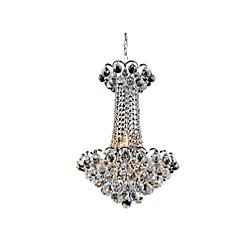 Glimmer 16 inch 11 Light Chandelier with Chrome Finish