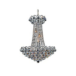 Glimmer 21 inch 11 Light Chandelier with Chrome Finish