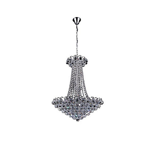 Glimmer 24 inch 11 Light Chandelier with Chrome Finish