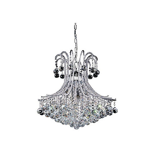 Idyllic 24 inch 6 Light Chandelier with Chrome Finish