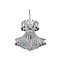 CWI Lighting Idyllic 24 inch 6 Light Chandelier with Chrome Finish