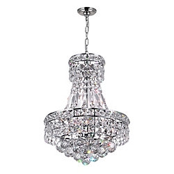Luminous 12 inch 4 Light Mini Pendant with Chrome Finish