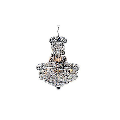 Luminous 16 inch 6 Light Chandelier with Chrome Finish