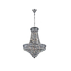 Luminous 22 inch 14 Light Chandelier with Chrome Finish