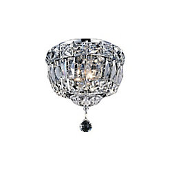 Stefania 8 inch 2 Light Flush Mount with Chrome Finish