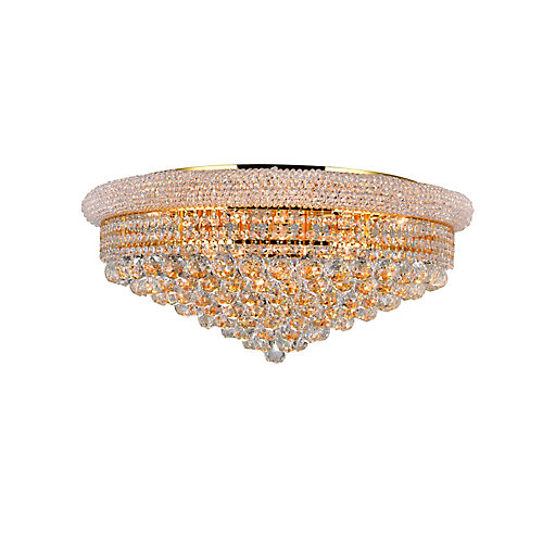 Empire 28 inch 19 Light Flush Mount with Gold Finish