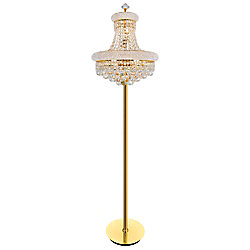 Empire 18 inch 8 Light Floor Lamp with Gold Finish