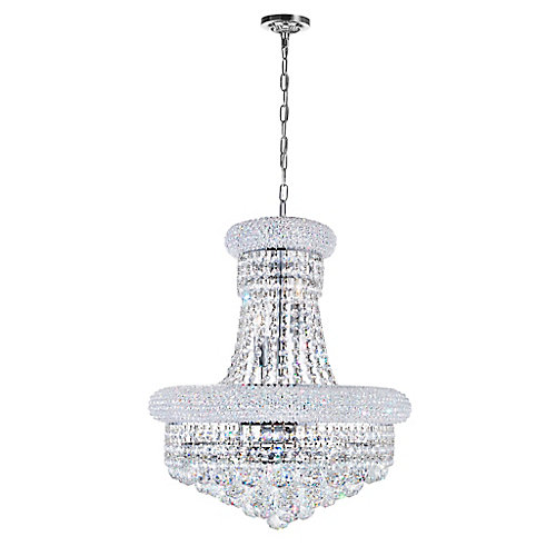 Empire 18 inch 8 Light Chandelier with Chrome Finish