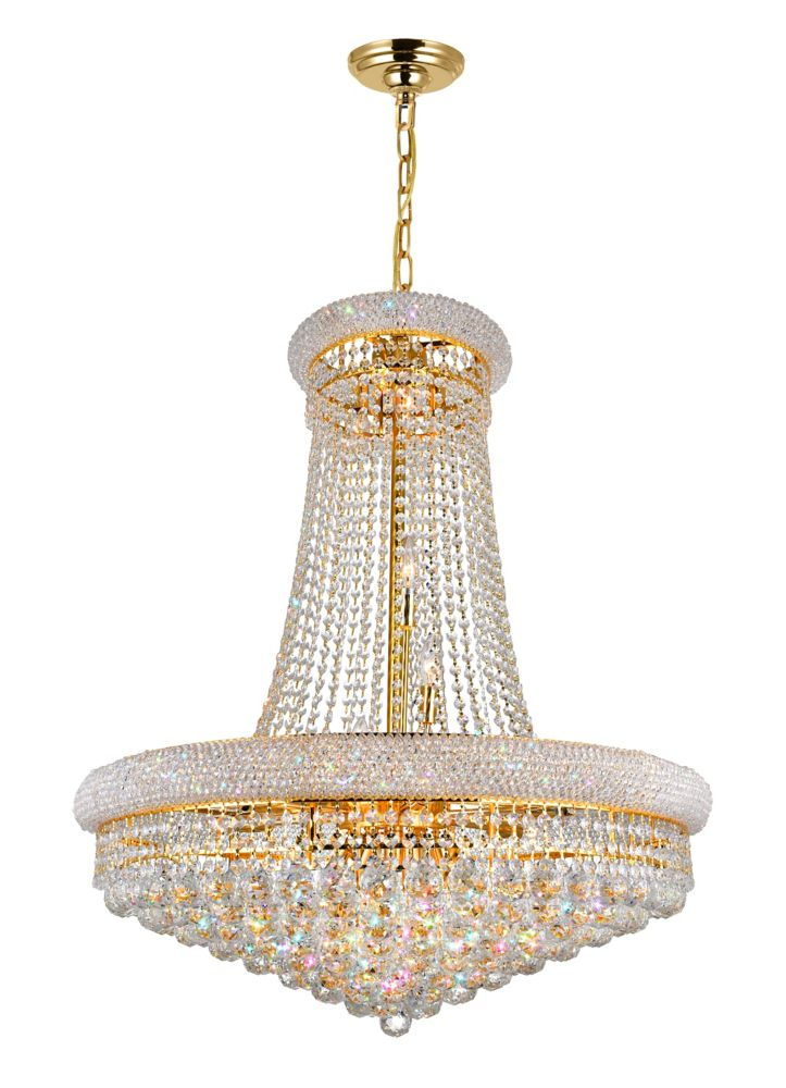 CWI Lighting Empire 32 inch 19 Light Chandelier with Gold Finish