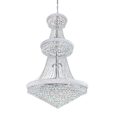 Empire 42 inch 38 Light Chandelier with Chrome Finish