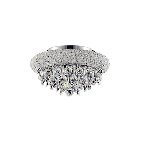 Kingdom 12 inch 3 Light Flush Mount with Chrome Finish