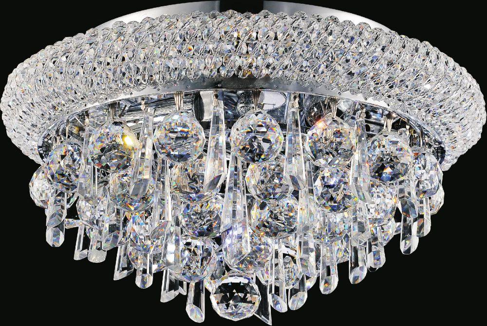 CWI Lighting Kingdom 14 inch 4 Light Flush Mount with Chrome Finish