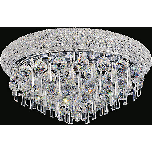 Kingdom 20 inch 7 Light Flush Mount with Chrome Finish