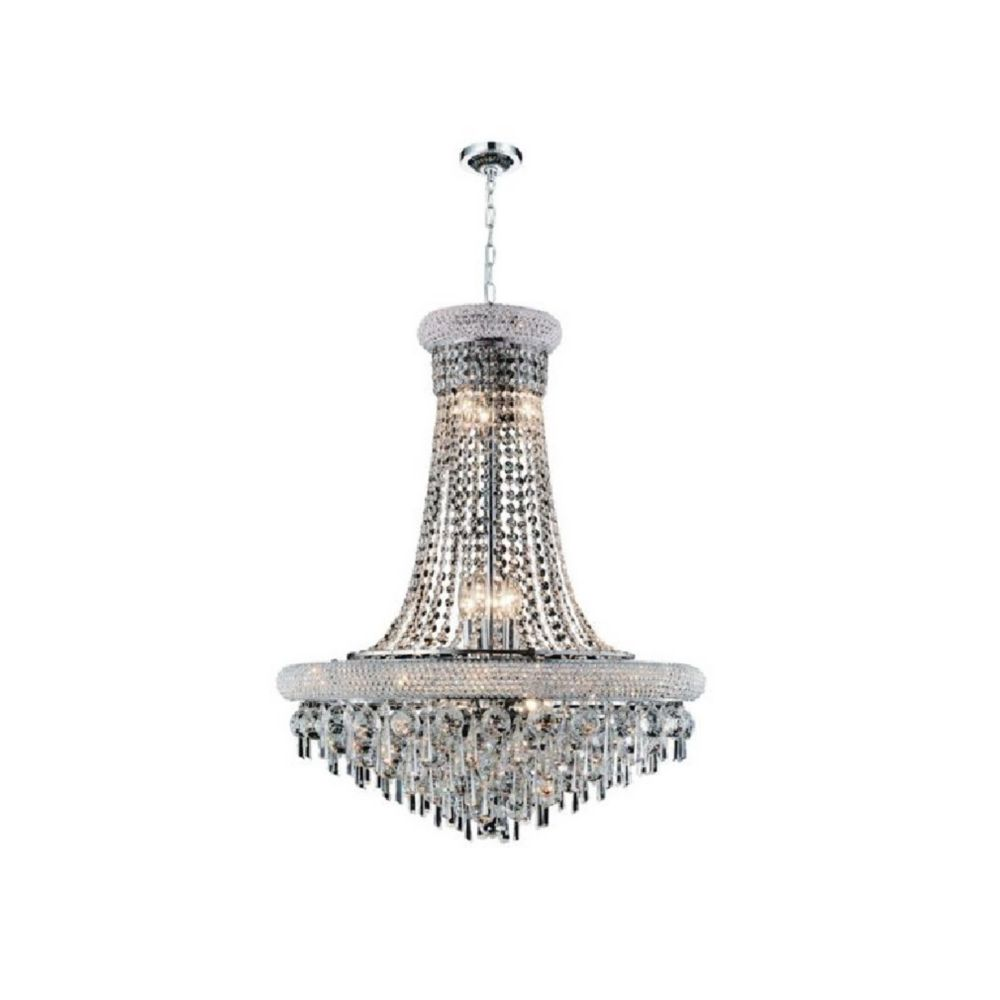 CWI Lighting Kingdom 20 inch 9 Light Chandelier with Chrome Finish