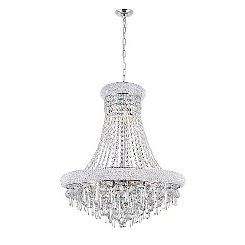 Kingdom 24 inch 13 Light Chandelier with Chrome Finish