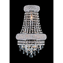 Kingdom 7 inch 3 Light Wall Sconce with Chrome Finish
