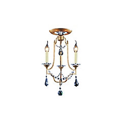Electra 14 inch 3 Light Flush Mount with Oxidized Bronze Finish