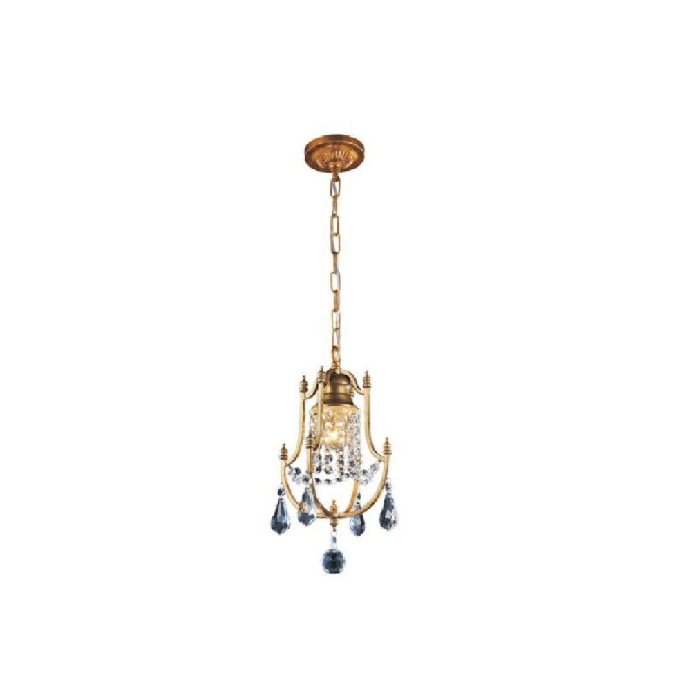 Electra 8 inch 1 Light Mini Pendant with Oxidized Bronze Finish