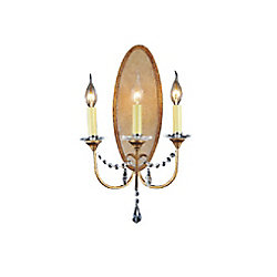 Electra 12 inch 3 Light Wall Sconce with Oxidized Bronze Finish