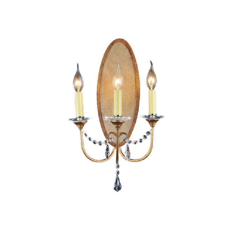 CWI Lighting Electra 12 inch 3 Light Wall Sconce with Oxidized Bronze Finish