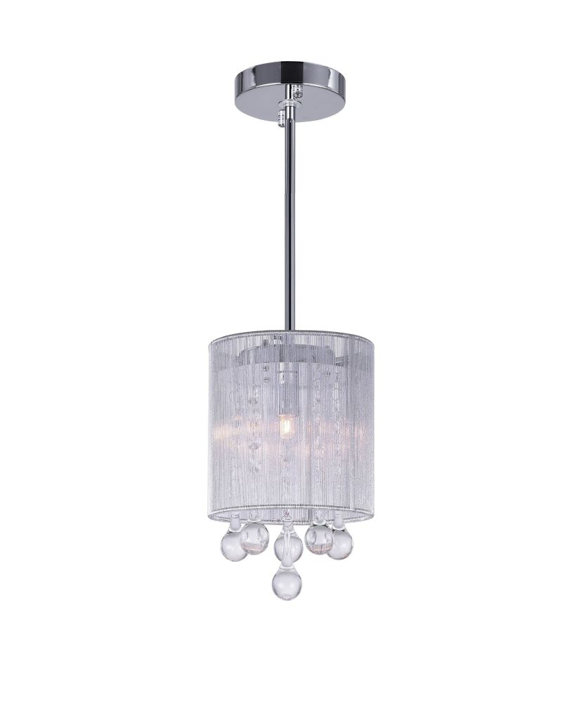 CWI Lighting Water Drop 6-inch 1 Light Mini Pendant with Chrome Finish