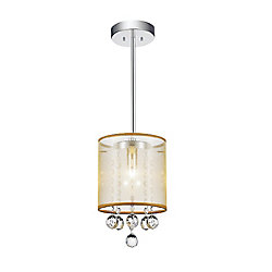 CWI Lighting Radiant 6-inch 1 Light Pendant with Chrome Finish