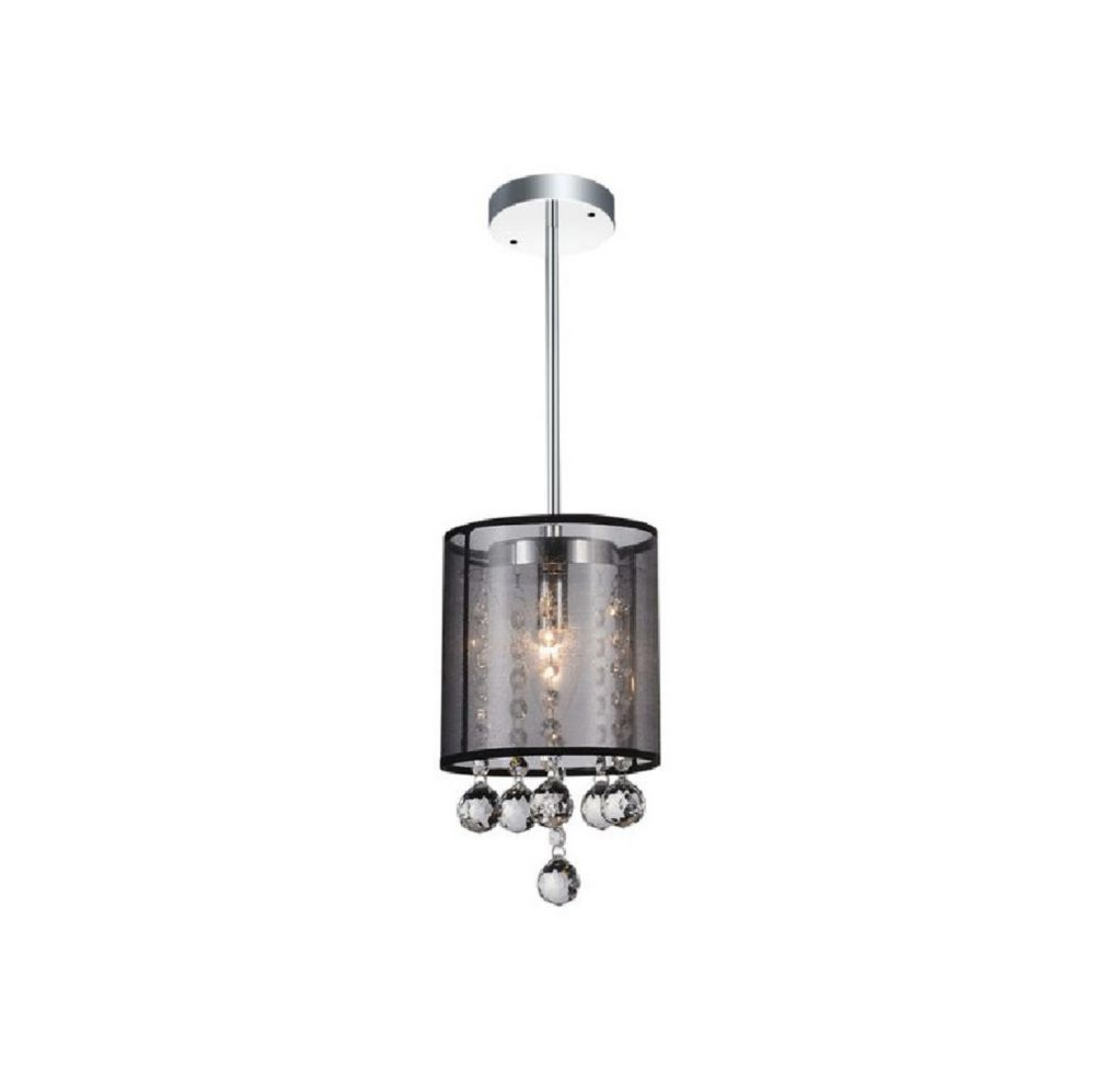 CWI Lighting Radiant 6 inch 1 Light Mini Pendant with Chrome Finish