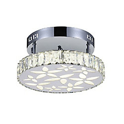 CWI Lighting Aster 12 inch LED Flush Mount with Chrome Finish