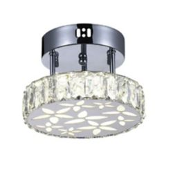 CWI Lighting Aster 8 inch LED Flush Mount with Chrome Finish