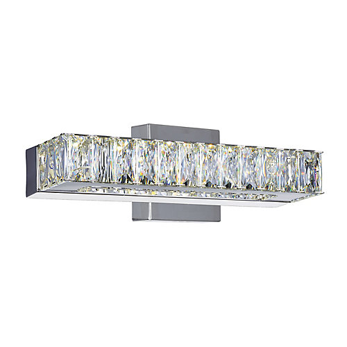 Milan 12 inch LED Wall Sconce with Chrome Finish