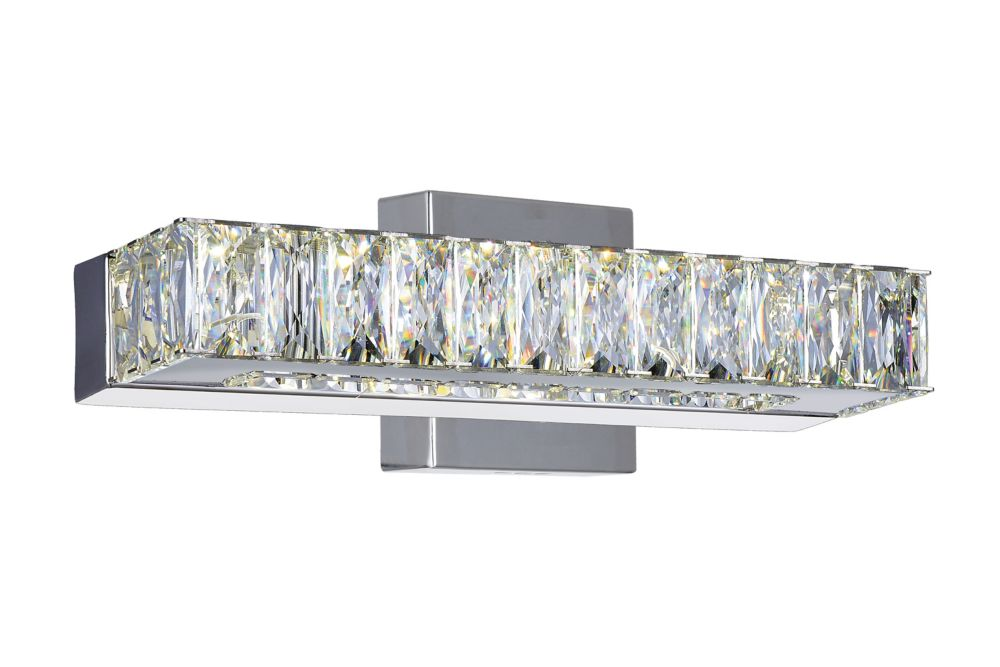 CWI Lighting Milan 12 inch LED Wall Sconce with Chrome Finish