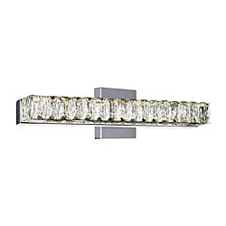 Milan 16 inch LED Wall Sconce with Chrome Finish